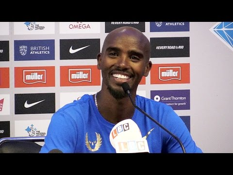 Mo Farah Press Conference Ahead Of Müller Anniversary Games