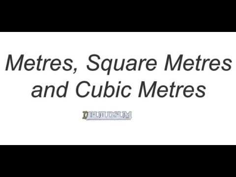 Metre Square Metre And Cubic Metre Youtube
