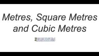 metre square metre and cubic metre