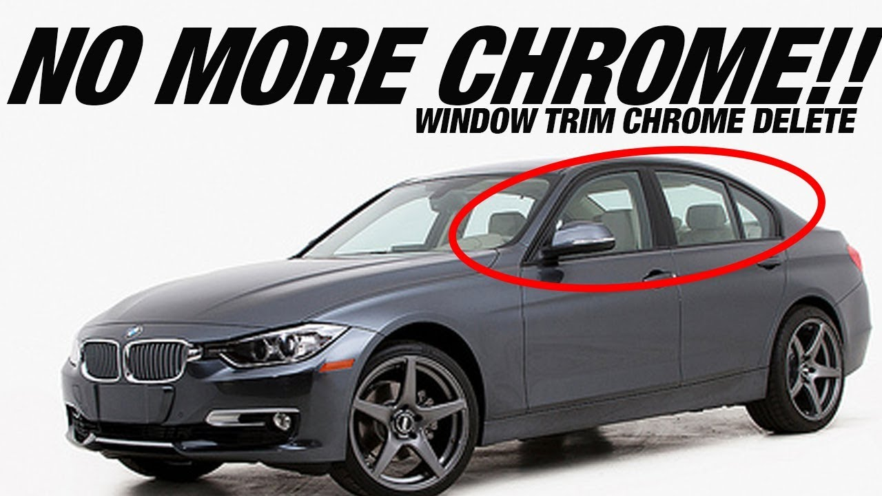 How to Blackout Car Window Trim (DIY Chrome Delete)