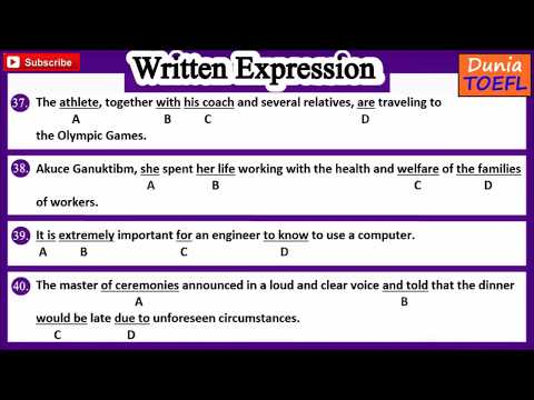 TOEFL Structure & Written Expression Full Practice Test 74