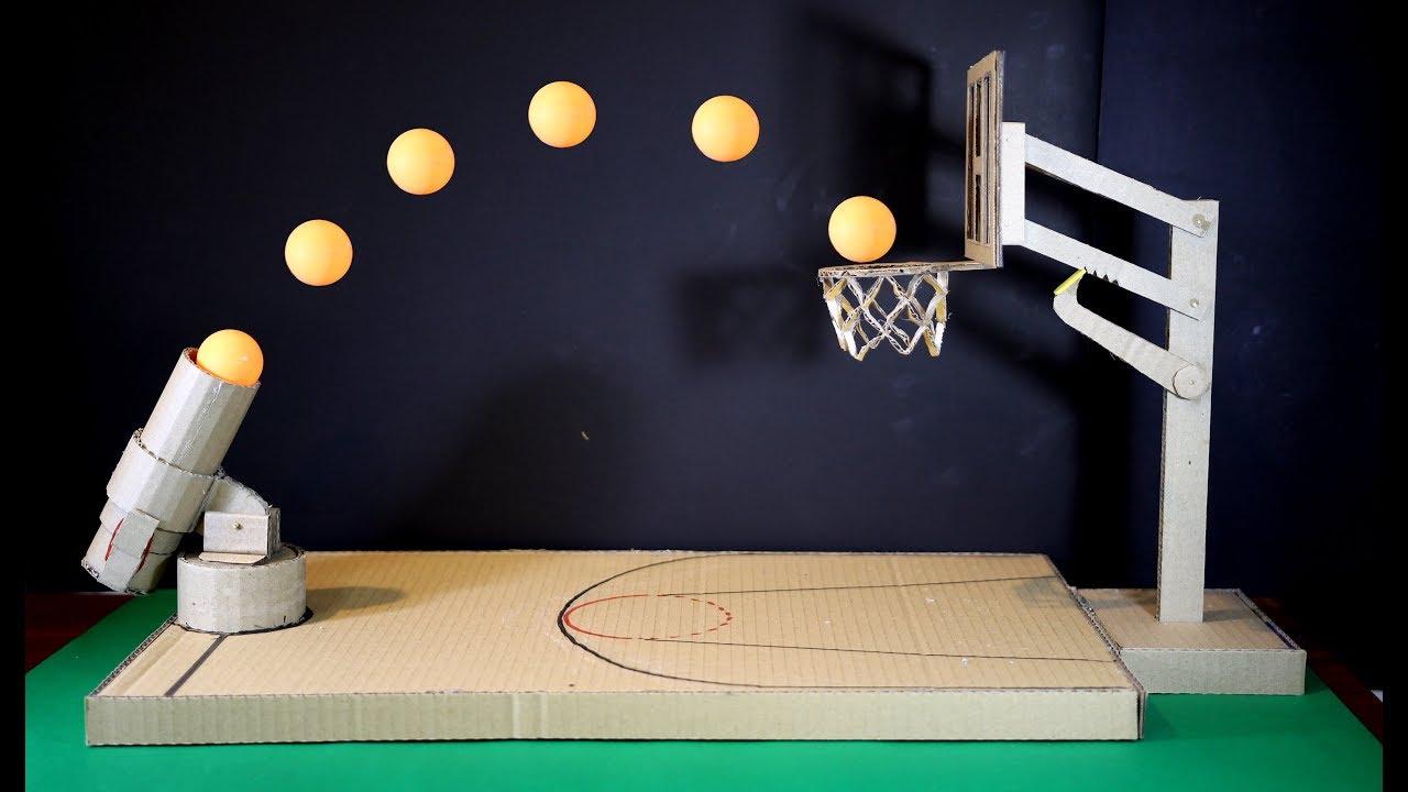 comment faire un jeu de basket ball en utilisant du carton
