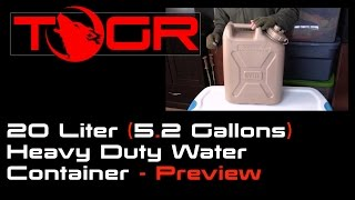 20 Liter 5.2 Gallons Heavy Duty Water Container - Preview