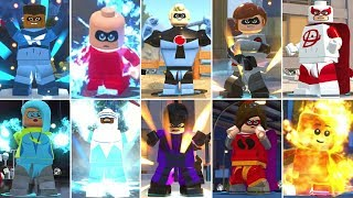 All Super Moves With All Supers in LEGO The Incredibles
