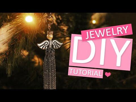 DIY Tutorial – Engeltjes maken met jasseron voor kerst - Zelf sieraden maken