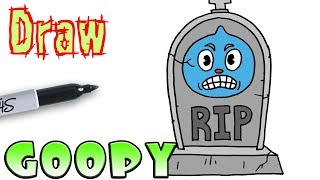 How to Draw Goopy Gravestone | Cuphead