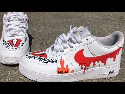 VLONE x A$AP inspired Nike AF1 custom YouTube