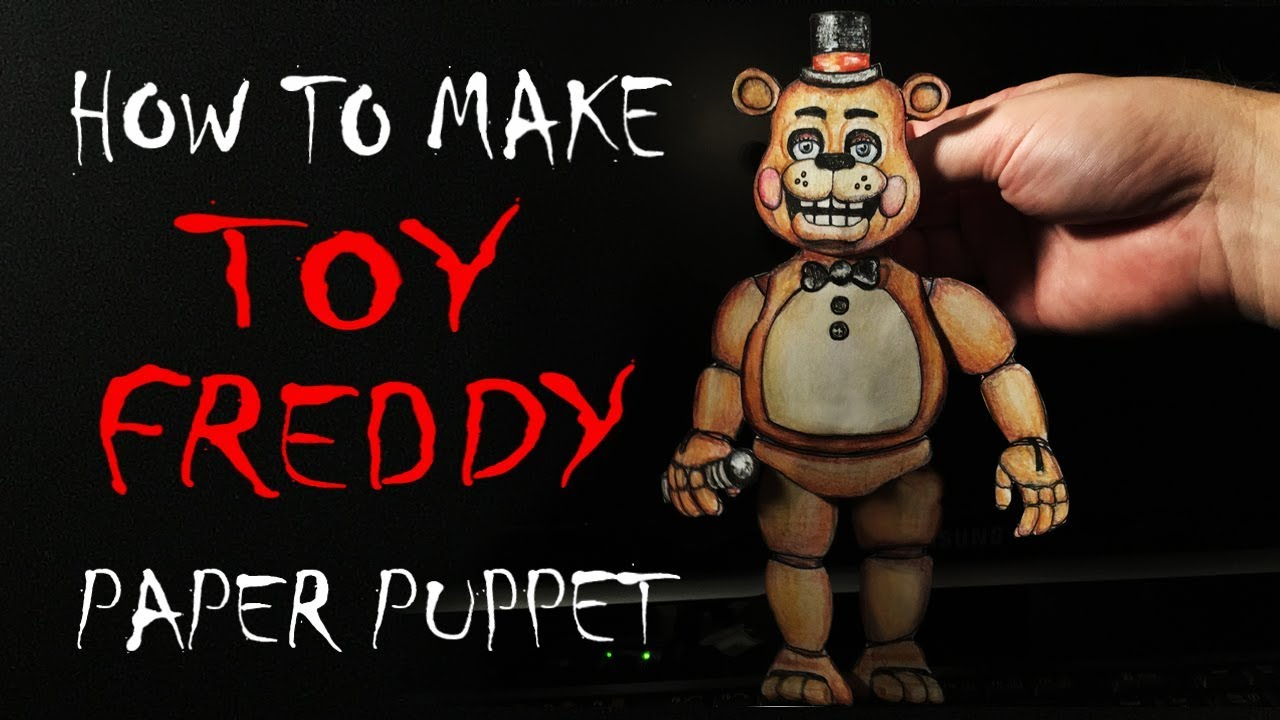 graphic relating to Five Nights at Freddy's Printable Mask called How Toward Generate (Toy Freddy) Paper Puppet FNAF - 5 Evenings at Freddys (2017) High definition