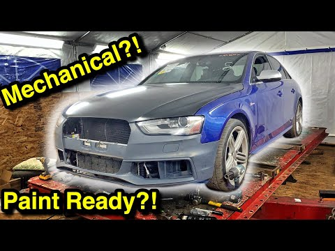 Rebuilding A Copart Wrecked Salvage Auction Audi S4 (Part 4) More, More, MORE PROBLEMS!!