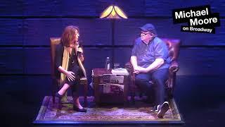 Naomi Klein visits Michael Moore on Broadway