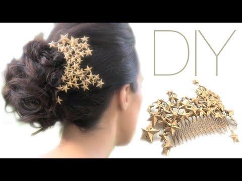 """DIY: HAIR CLIP """"PEINETA DECORADA CON ESTRELLAS"""""""