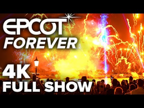 EPCOT FOREVER [4K] Full Show NIGHT MODE | Walt Disney World