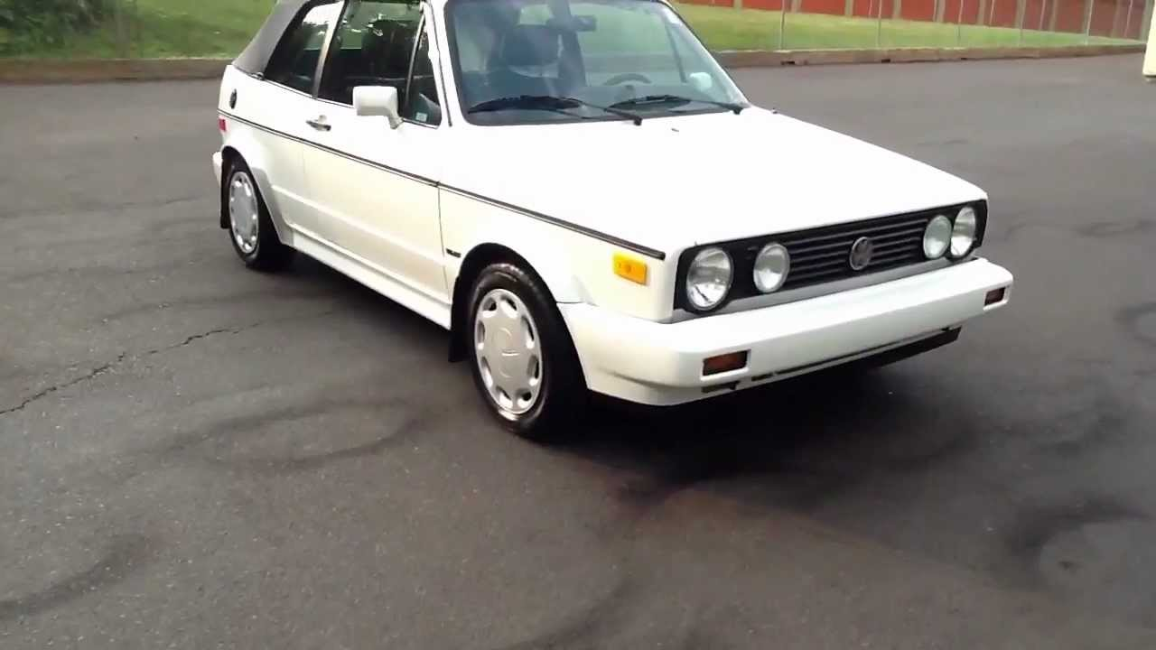 1992 VW CABRIO 5 SPEED CONVERTIBLE For Sale In Pennsylvania - YouTube