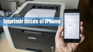 Cómo imprimir con Wifi con un iPhone o iPad (iOS 10)