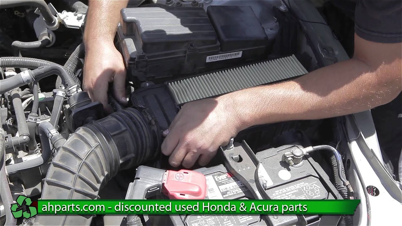 how to replace change a air cleaner box for a 2005 2006 2007 honda rh youtube com honda accord intake manifold diagram