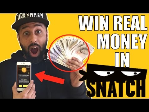 SNATCH APP - WIN MONEY AND PRIZES! WITH SMARTPHONE GAME