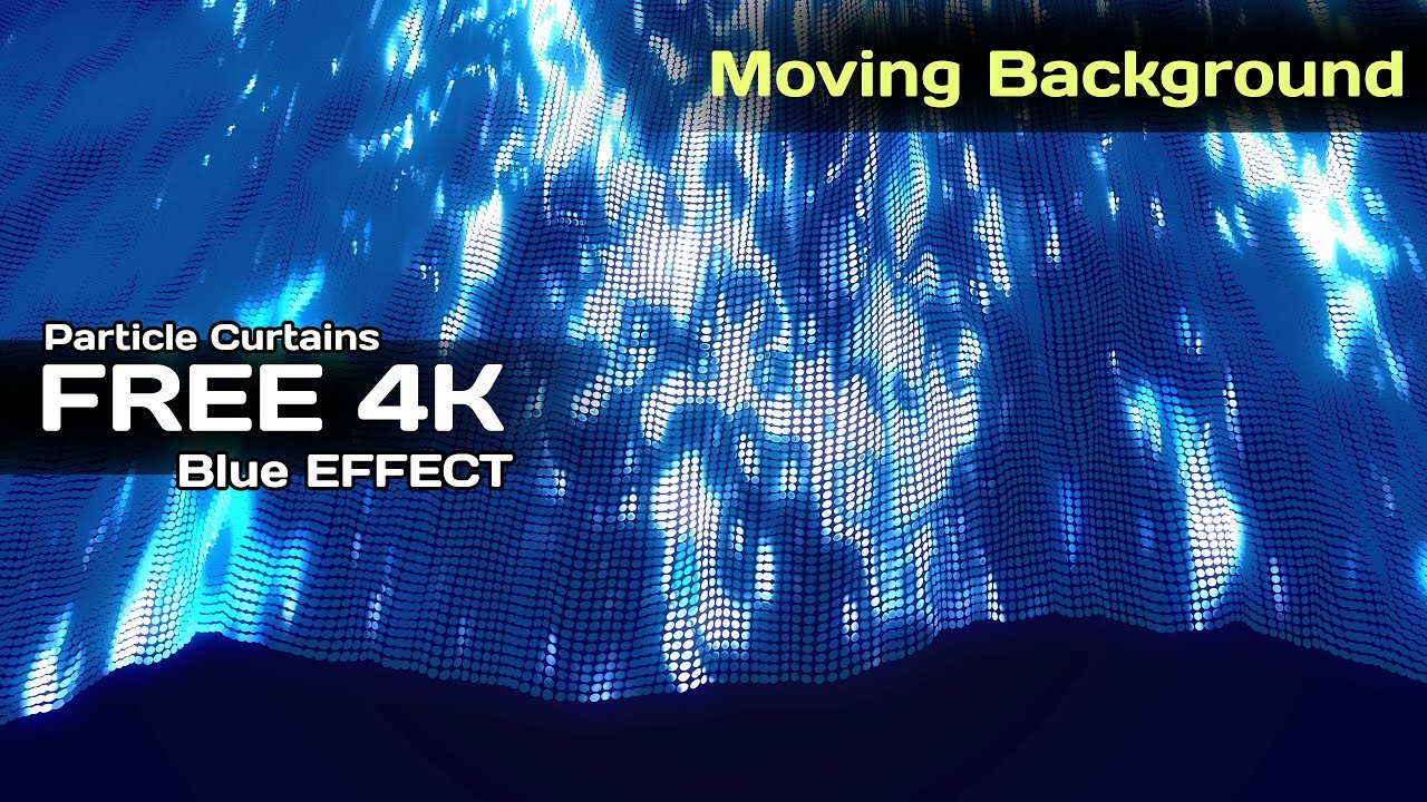 4k Blue Glowing Particle Curtains Moving Background Aavfx Animated Wallpaper