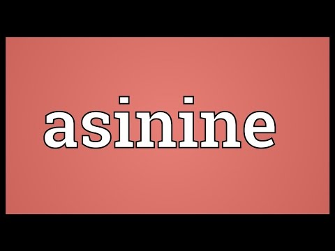 Asinine Meaning