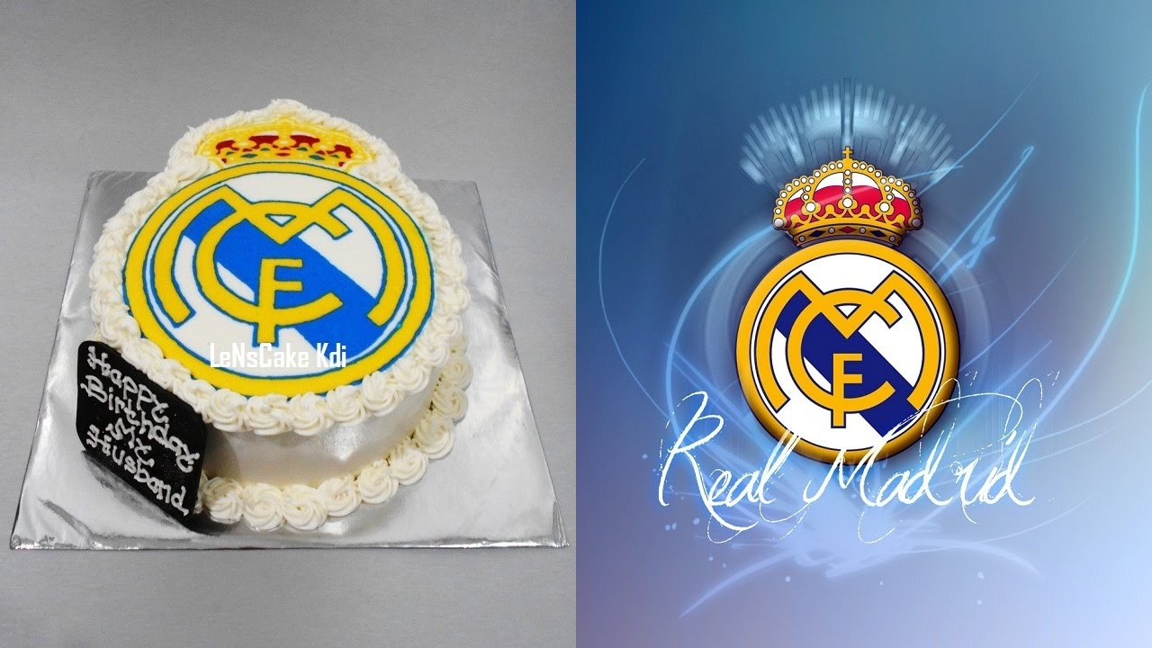 Real madrid cake decoration youtube for Decoration chambre real madrid
