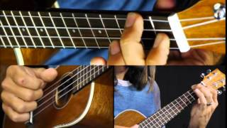 How To play Fire and Rain by James Taylor ukulele lesson