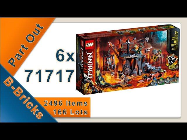 Part Out Party 6x Lego 71717 für BrickLink, NINJAGO Reise zu den Totenkopfverliesen