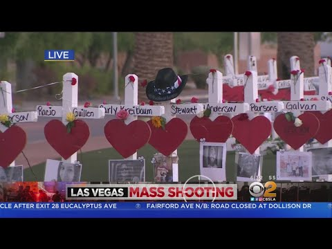Display Of White Crosses Go Up In Memory Of Las Vegas Victims