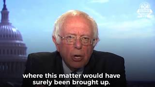 Bernie Sanders takedown of Trump's Firing of James Comey