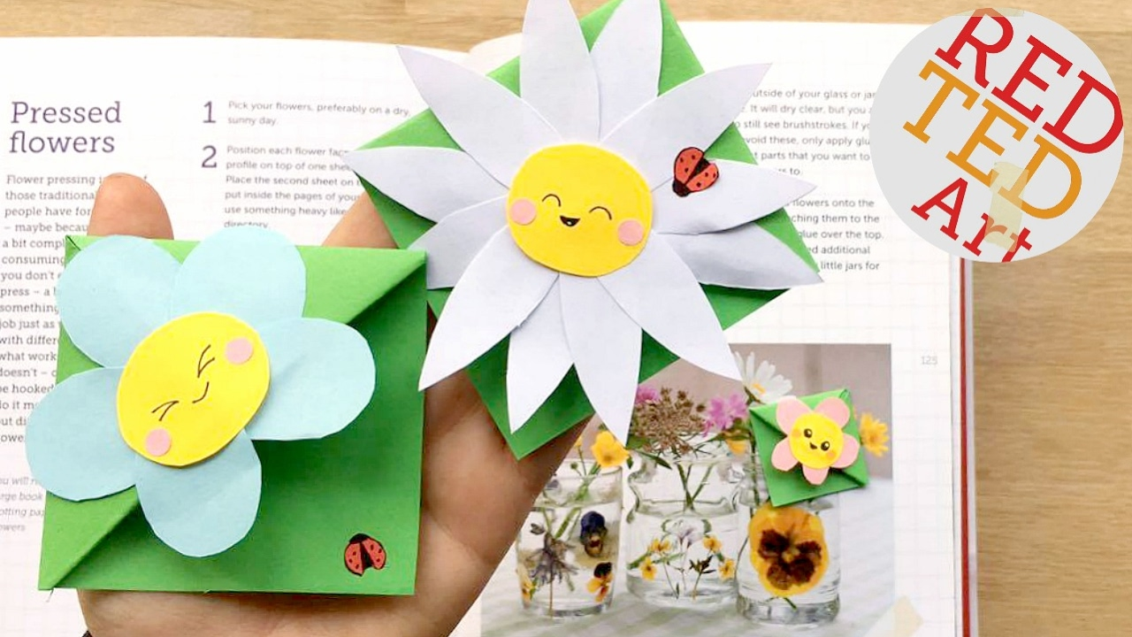 Cute Easy Flower Bookmark Designs Kawaii Flowers Diy Paper