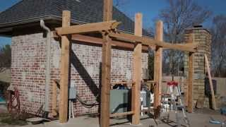 Building A Pergola In Time Lapse