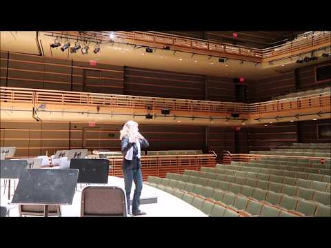 """""""Syrinx"""" before performing with The Chamber Orchestra of Philadelphia, Perelman Theater"""