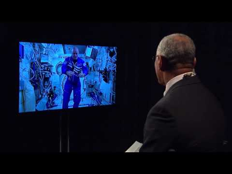 NASA Administrator Greets the Agency's One-Year Crew Member to ISS