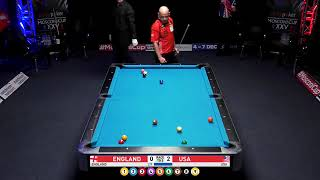 England Vs USA - Warm up for next week's Mosconi Cup 2018 9 Ball Pool Part 2/4
