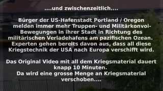 USA: Massive verschiebung von Kriegsgerät nach Europa von US-TV bestätigt