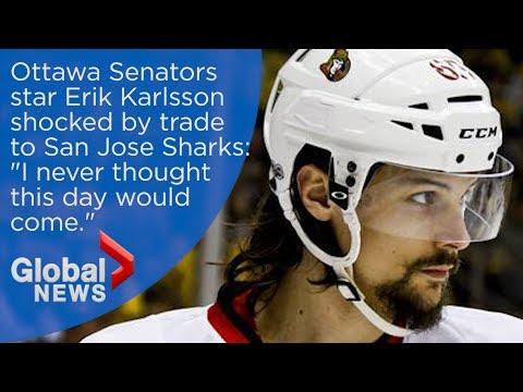 """NHL trade stunner: Erik Karlsson has """"no answers"""" after Ottawa trades him to San Jose"""