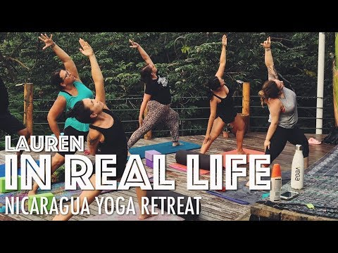 NICARAGUA YOGA RETREAT + WHAT I ATE IN NICARAGUA | Lauren In Real Life