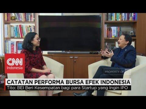Catatan Performa Bursa Efek Indonesia - Direktur Utama BEI, Tito Sulistio.