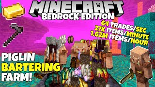 Minecraft Bedrock: PIGLIN BARTERING Farm! 27k Items/Minute! 1.16 Nether Update Tutorial