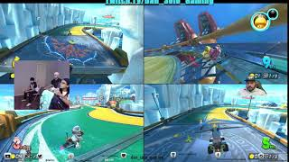 Mario Kart 8 and Jump Force with the Family