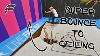 20FT CEILING DROP TRICK TO SUPER TRAMPOLINE
