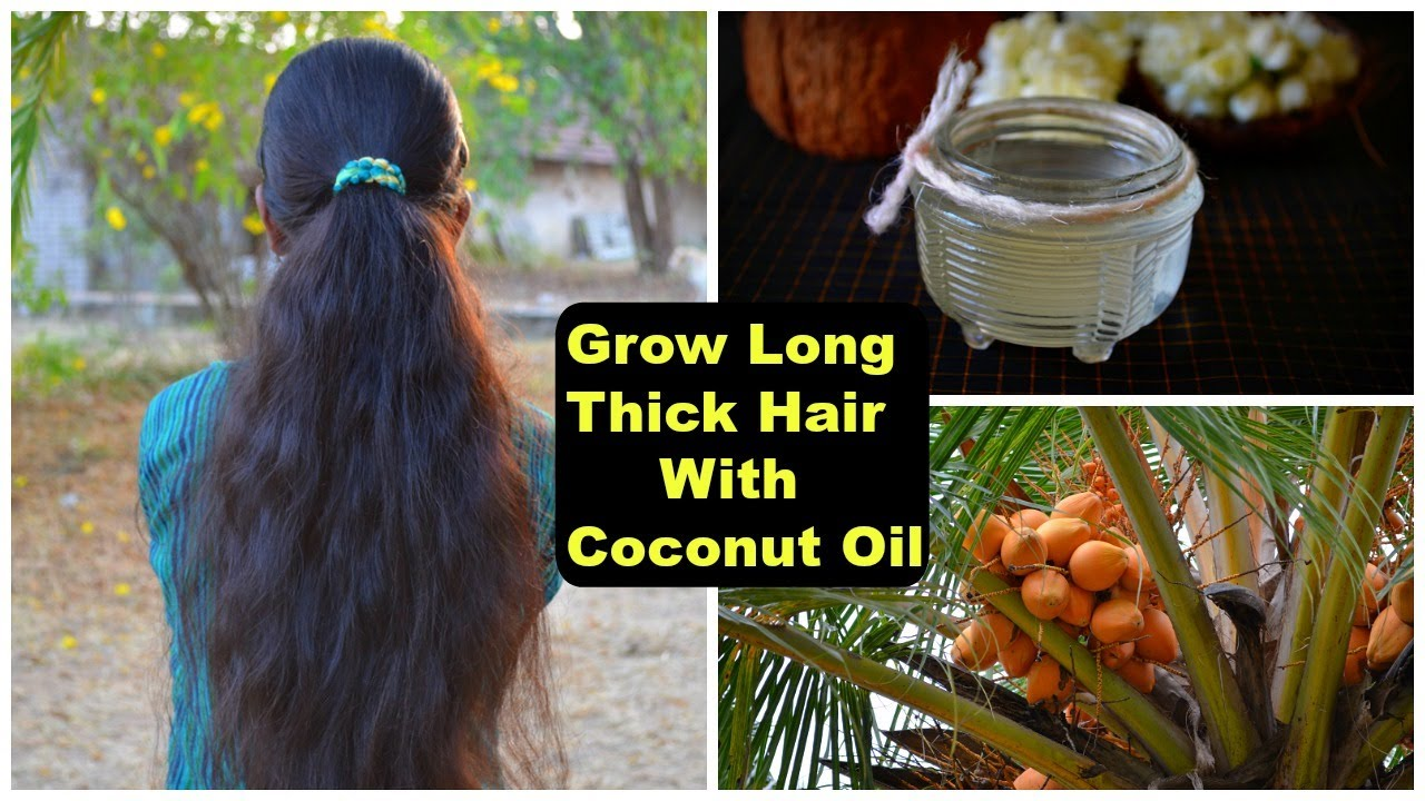 how to grow your hair faster & longer with coconut oil | 3 best