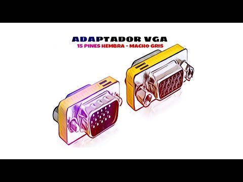 Video de Adaptador VGA 15 pines hembra - macho  Gris