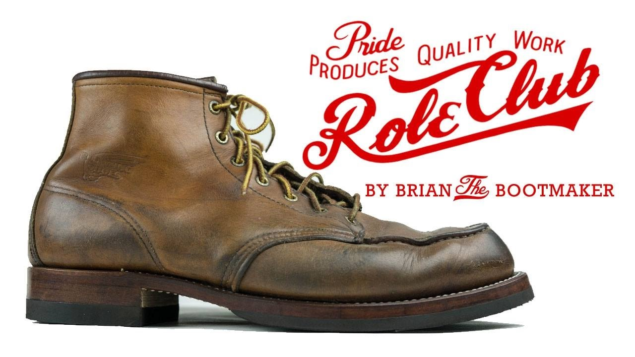 red wing 875 moc toe boots resole 22 youtube