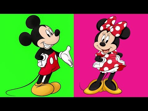 Disney Coloring World - Mickey Mouse & Minnie Mouse - Coloring Pages for Kids - Episode 2