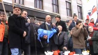 """""""Die Milch wird uns gestohlen"""" Romuald Schabers Ansprache in Prag 03/12/09 dt. + czech"""