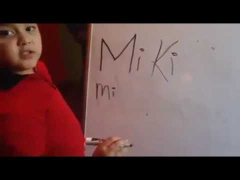 "Young Nicki Minaj stan spells her name wrong ""La Miki Minach"" She ask who her favorite rapper is"
