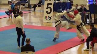 Таеквондо МФТ Кубок России 2017 спарринг часть12 раунд 1 Taekwondo ITF sparring