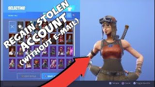 How to get STOLEN fortnite account back without email access