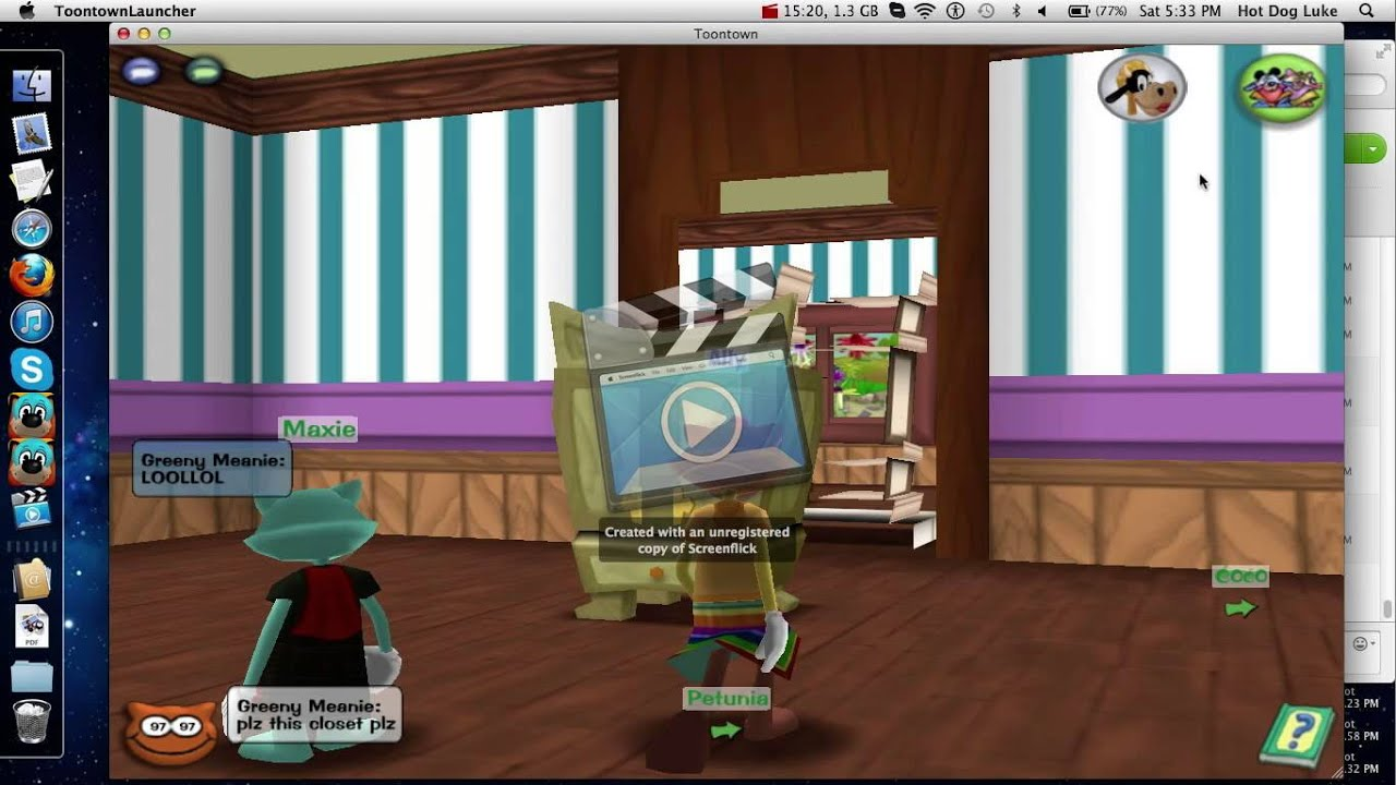 Toontown spying on lavendar cat (edited version) - YouTube Gaming
