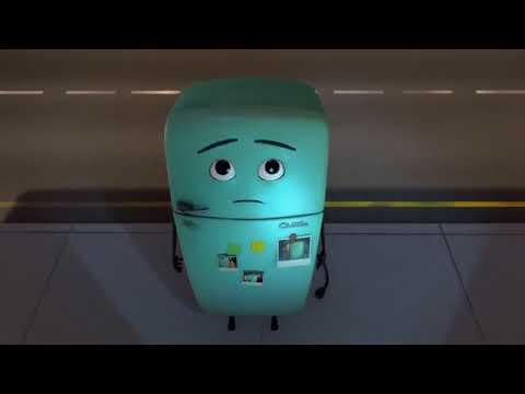 Побег любимого холодильника.  Забавный Новый 3D мультфильм 2017-2018. Короткометражка