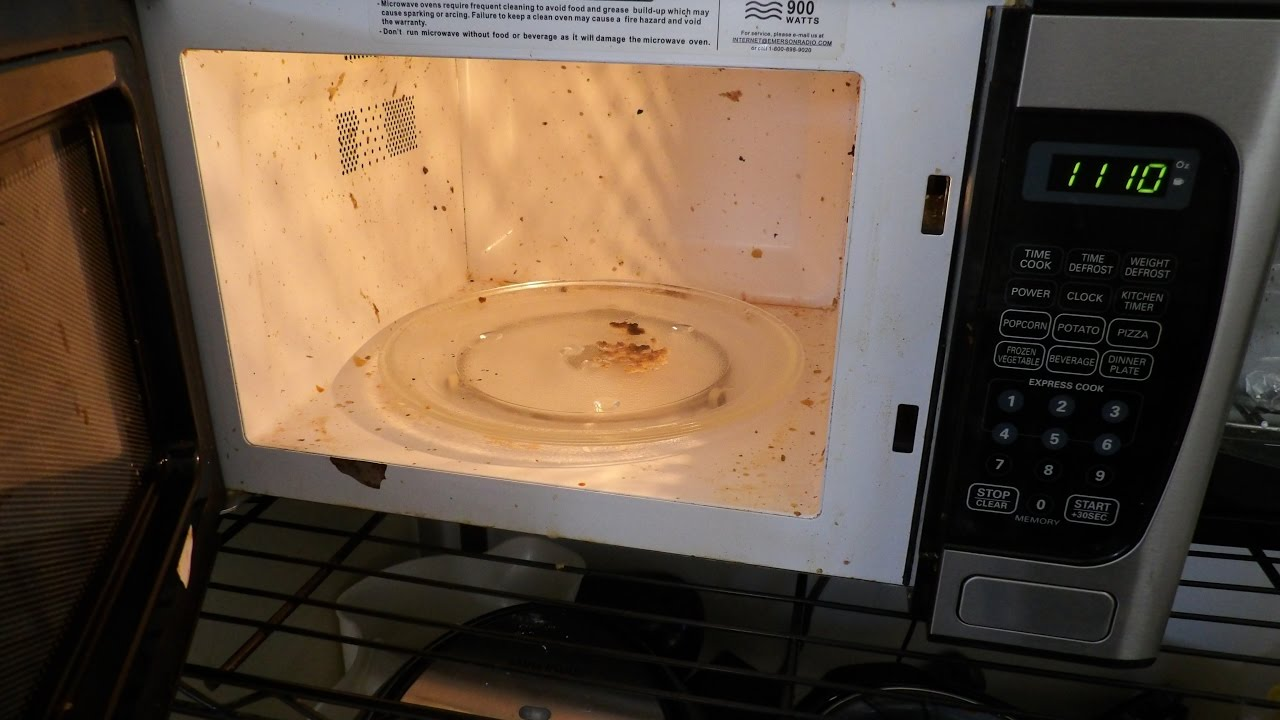 microwave stinks how to clean